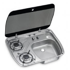 HSG 2445 2 BURNER COMBI WITH GLASS LID